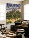 Big Bend National Park, Texas - Casa Grande Wall Mural by  Lantern Press