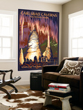 Carlsbad Caverns National Park, New Mexico - Temple of the Sun Wall Mural by  Lantern Press
