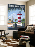 Hilton Head Island, SC - Harbour Town Lighthouse Wall Mural by  Lantern Press