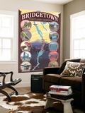 Portland, OR, Bridgetown Collage of Portland Bridges Wall Mural by  Lantern Press