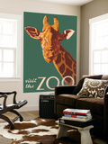 Visit the Zoo, Giraffe Up Close Wall Mural by  Lantern Press