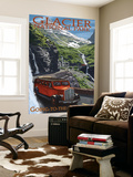 Glacier National Park - Going-To-The-Sun Road, c.2009 Wall Mural by  Lantern Press