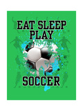 Eat Sleep Play Soccer Premium Giclee Print by Jim Baldwin