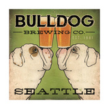 Bulldog Brewing Seattle Poster by Ryan Fowler