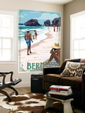 Horseshoe Bay Beach Scene - Bermuda Wall Mural by  Lantern Press