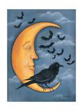 Moon Crow Posters par Kim Lewis