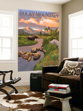 Moose and Meadow - Rocky Mountain National Park Wall Mural by  Lantern Press