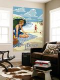Long Beach Island, New Jersey Beach Scene Wall Mural by  Lantern Press