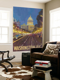 Washington DC, The Capitol Building Wall Mural by  Lantern Press