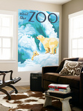 Visit the Zoo, Polar Bear and Cub Wall Mural by  Lantern Press