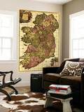 Ireland - Panoramic Map Vægplakat i topklasse af  Lantern Press