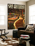 The Riverwalk - San Antonio, Texas Wall Mural by  Lantern Press
