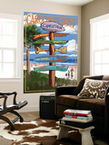 Charleston, South Carolina - Destination Signs Wall Mural by  Lantern Press
