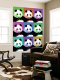 Panda Pop Art - Visit the Zoo Wall Mural by  Lantern Press