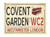 Covent Garden Poster by Jo Moulton