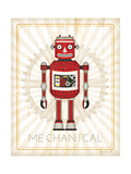 Retro Robot III Posters by Jennifer Pugh