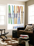 Park City, Utah, Skis in the Snow Wall Mural by  Lantern Press