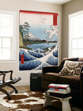 Sea at Satta in Suruga Province, Japanese Wood-Cut Print Wall Mural by  Lantern Press