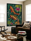 Koi - Paper Mosaic Wall Mural by  Lantern Press