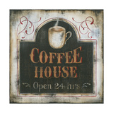 Coffee House Open 24 Hours Art by Kim Lewis