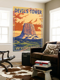 Wyoming, View of Devil's Tower Wall Mural by  Lantern Press