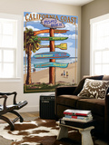 Pismo Beach, California - Destination Sign Wall Mural by  Lantern Press