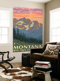 Montana - Big Sky Country - Spring Flowers, c.2008 Wall Mural by  Lantern Press