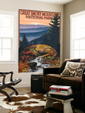 Great Smoky Mountains - Waterfall, c.2009 Wall Mural by  Lantern Press