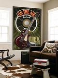Nashville, Tennessee - Guitar and Microphone Wall Mural by  Lantern Press