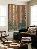 Sequoia National Forest, CA Redwood Trees Wall Mural by  Lantern Press