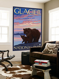 Bear and Cub, Glacier National Park, Montana Wall Mural by  Lantern Press