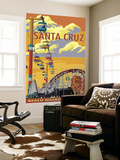 Santa Cruz, California - Beach Boardwalk Wall Mural by  Lantern Press