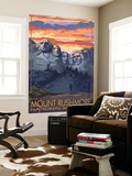 Mount Rushmore National Memorial, South Dakota - Sunset View Wall Mural by  Lantern Press