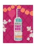 Summer Wine Celebration III Premium Giclee Print by  Studio Bella