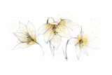 Gilded Graphite Floral Trio Premium Giclee Print by Avery Tillmon