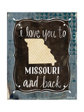Missouri and Back Premium Giclee Print by Katie Doucette