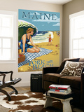 York Beach, Maine - Beach Scene Wall Mural by  Lantern Press