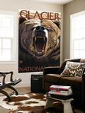 Bear Roaring, Glacier National Park, Montana Wall Mural by  Lantern Press