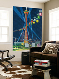Space Needle Worlds Fair Poster - Seattle, WA Wall Mural by  Lantern Press
