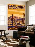 Saguaro National Park, Arizona Wall Mural by  Lantern Press