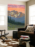 Jackson Hole, Wyoming, Spring Flowers Wall Mural by  Lantern Press