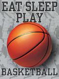Eat Sleep Play Basketball Poster von Jim Baldwin