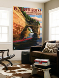 Pictured Rocks National Lakeshore, Michigan Wall Mural by  Lantern Press