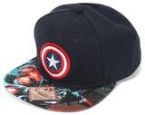 Captain America Logo Sublimated Bill Snapback Hat