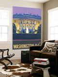 Washington DC, The White House Wall Mural by  Lantern Press