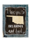 Oklahoma and Back Prints by Katie Doucette