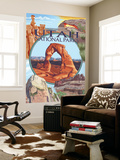 Utah National Parks - Delicate Arch Center Wall Mural by  Lantern Press