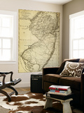 New Jersey - Panoramic Map Wall Mural by  Lantern Press