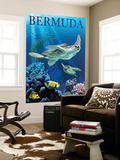 Bermuda - Sea Turtles Wall Mural by  Lantern Press