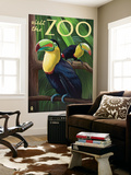 Visit the Zoo, Tucan Scene Wall Mural by  Lantern Press